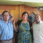 Josie Ramos with Mayor of Belmopan and Dr. Cuellar
