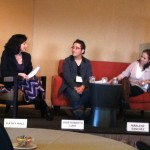 Jose Roberto Luna participates in a plenary session with Kathy Hall of the Summit Foundation and Marlene Sanchez from the Center for Young Women's Development