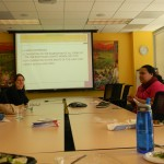 Vanessa presents to Public Health Institute staff