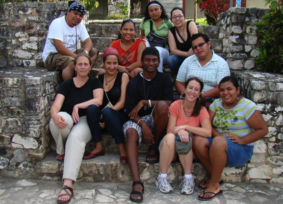 (Clockwise top left) Roberto Morales, Nekisha Lima, Jacinta Chan Pech, Gabriela Flores, Jorge Lopez, Gladys Puc, Allison Meyer, Errol Longsworth, Julia Zeuli, Andrea Spagat
