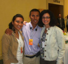 Cinthia Interian Varguez, Elmer Cornejo and Kathy Hall