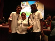 Elmer, Iris, and Errol at the 2013 Women Deliver Conference (click to enlarge)