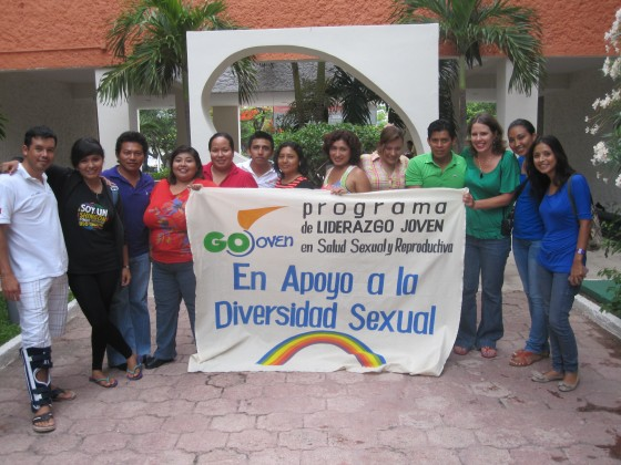 GOJoven Mexico fellows march during Cancun Pride