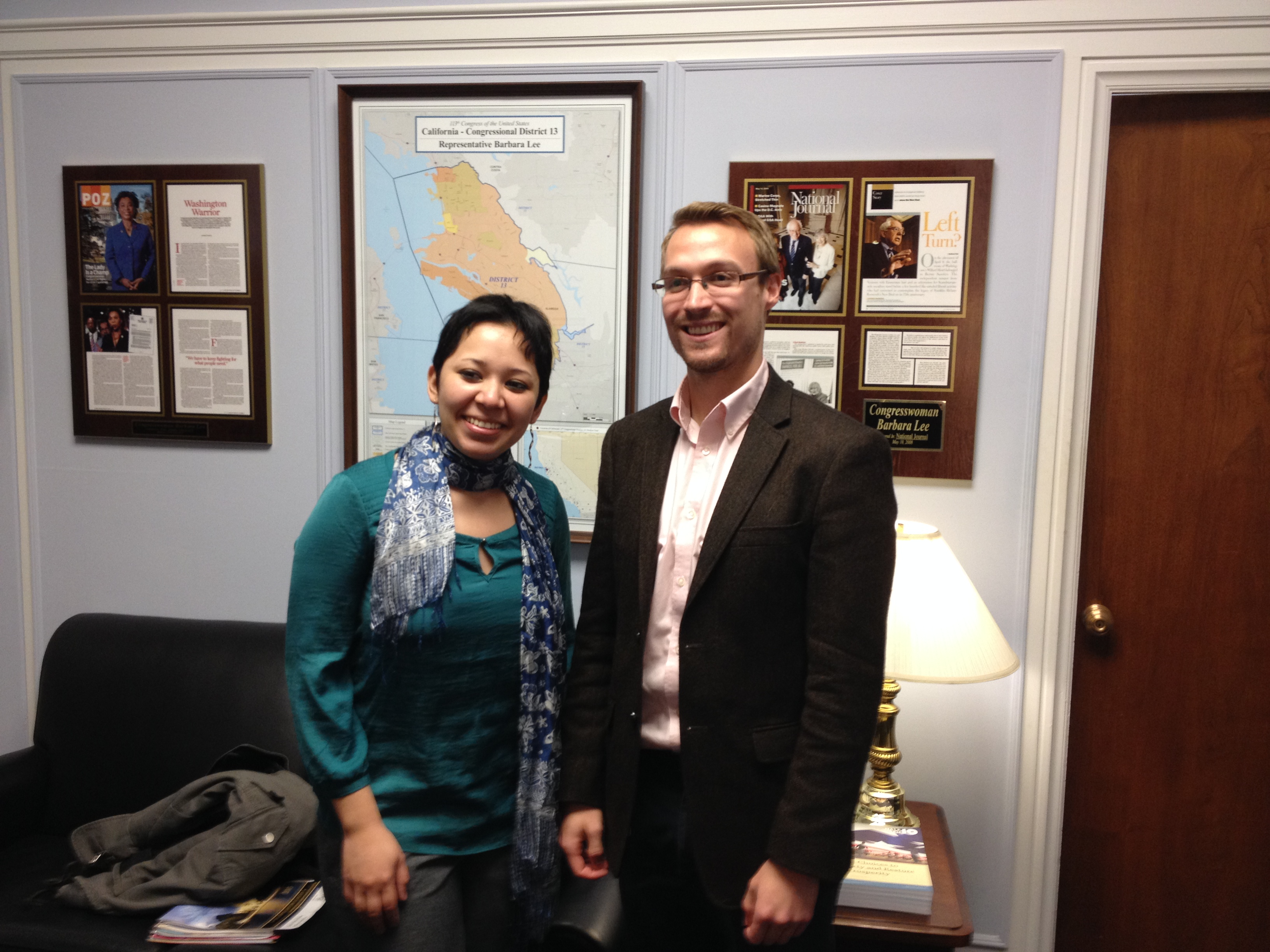 GOJoven and Staff from Congresswoman Lee's Office