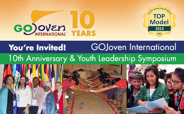 GOJoven International Announces 10th Anniversary Celebration & Youth Leadership Symposium