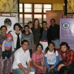 Los y las becarias/os de GOJoven en Guatemala durante la conferencia de prensa el 24 de septiembre, 2012