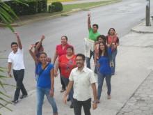 Y sigan marchando los y las GOJovenistas en Cancun