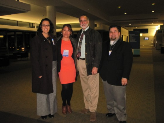 From L-R: Karya Lustig, Center for Health Leadership and Practice, Eva Burgos, Youth Leadership in Sexual and Reproductive Health Program, Jeff Meer, Special Advisor for Policy and Global Health, Fred Flores, Global Health Fellows Program
