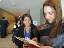 Compañera Ingrid de Guatemala Presentando GJ Guatemala a Representante de UNFPA L.A.