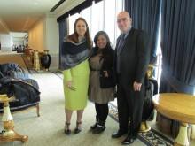 Wendy Aguilar, junto a la Representantde UNFPA L.A. Y el Representante de de UNFPA Honduras
