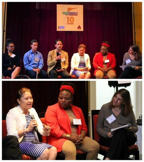 """El programa de entrevistas """"Jóvenes Hablan"""" presentó a Eva Burgos, Directora Ejecutiva de GOBelize, y otros jóvenes líderes de CAHC, YTH, FACES y YCI, y Tamara Kreinin de la Packard Foundation."""
