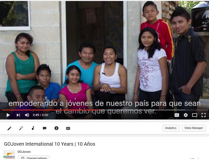 ¡Nuevo Video! GOJoven Internacional 10 Años