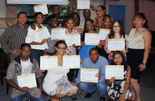 The GOJoven Belize 2013 cohort completes their first training (click to enlarge)