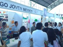 GOJoven Mexico's booth at the launch of the youth SRH  network