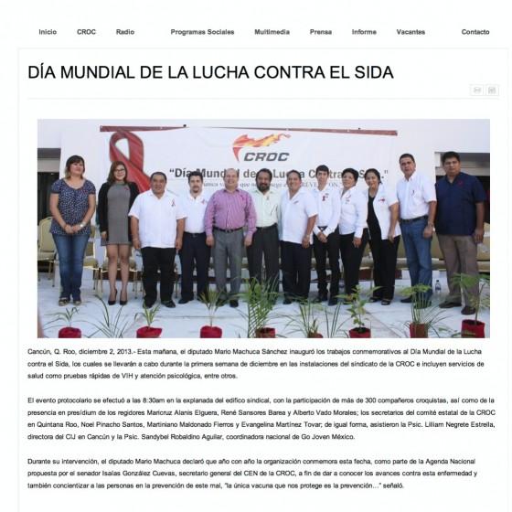 Mexico — Día Mundial de la Lucha Contra SIDA (Spanish)