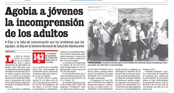 Mexico — Agobia a Jóvenes la Incomprensión de los Adultos (Spanish)