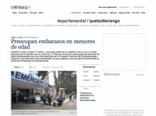 Guatemala — Preocupan embarazos en menores de edad